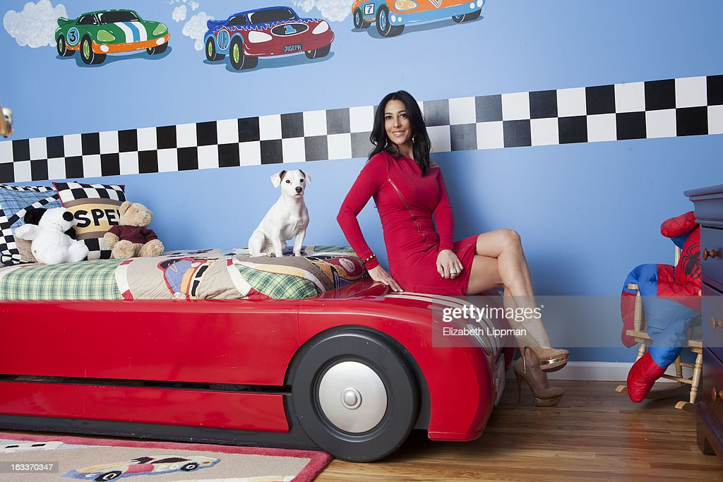 Reality TV star Carla Facciolo is photographed for New York Post on January 24, 2013 at home in Staten Island, New York.