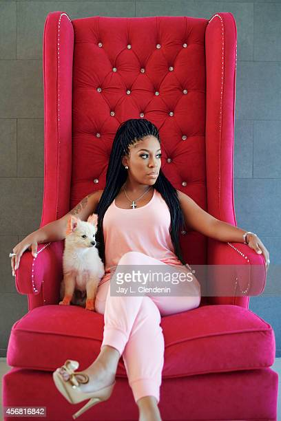 Reality TV star K Michelle is photographed for Los Angeles Times on August 15 2014 in Los Angeles California PUBLISHED IMAGE CREDIT MUST READ Jay L...