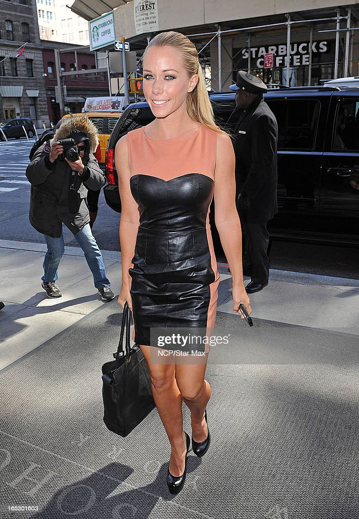Reality TV Star Kendra Wilkinson is seen on April 2, 2013 in New York City.