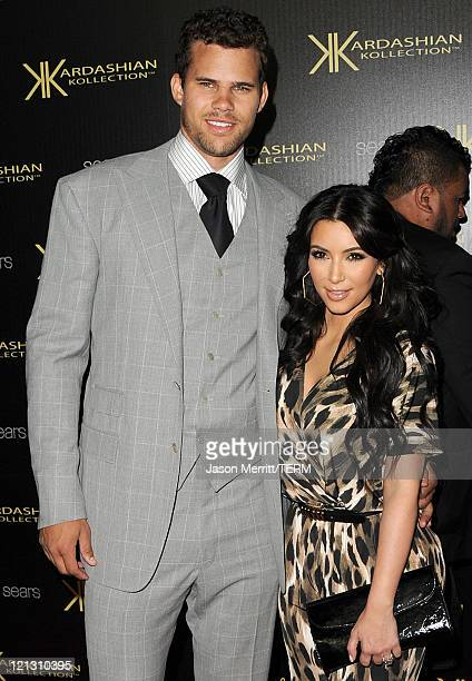 Reality TV star Kim Kardashian and New Jersey Nets forward basketball player Kris Humphries arrive on the red carpet of the Kardashian Kollection...