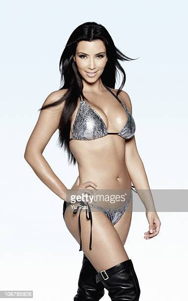 Reality TV star Kim Kardashian is photographed for Beach Bunny