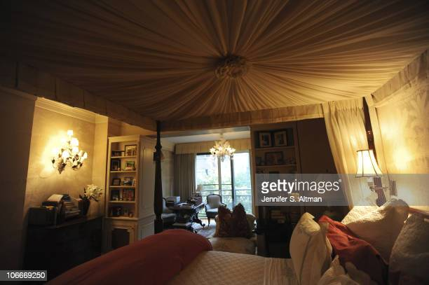 Reality tv star Sonja Morgan of the 'Real Housewives of New York' bedroom in New York photographed on September 29 2010 Published image
