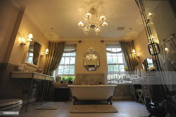 Reality tv star Sonja Morgan of the 'Real Housewives of New York' bathroom in New York photographed on September 29 2010 Published image