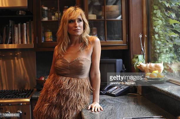 Reality tv star Sonja Morgan of the 'Real Housewives of New York' poses in her kitchen in New York on September 29 2010 Published image