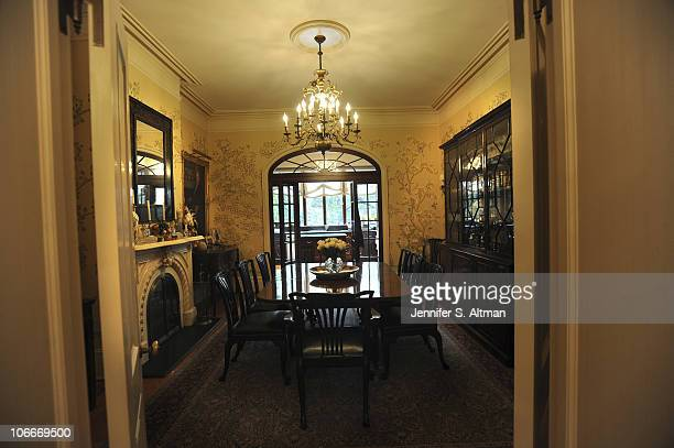 Reality tv star Sonja Morgan of the 'Real Housewives of New York' dining room in New York photographed on September 29 2010