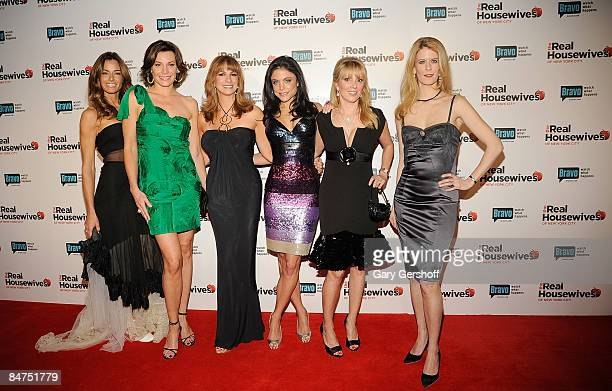 Reality TV stars Kelly Killoren Bensimon LuAnn de Lesseps Jill Zarin Bethenny Frankel Ramona Singer and Alex McCord attend 'The Real Housewives of...