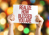 Realize How Blessed You Are placard