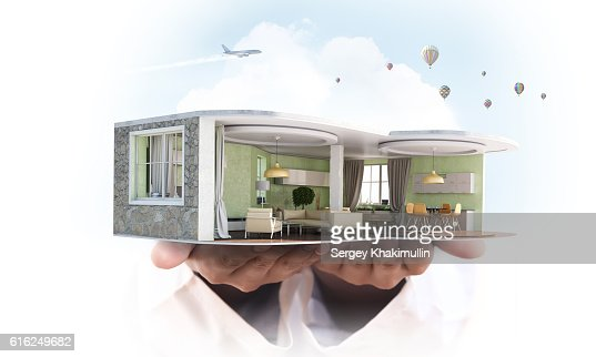 Realize your interior dream . Mixed media : Stock Photo