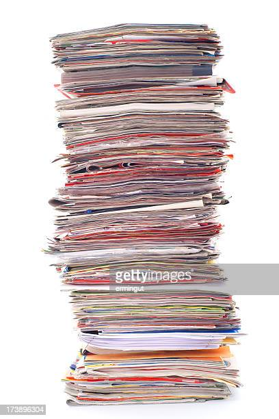 Really big stack of magazines