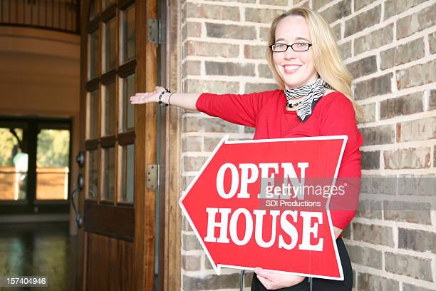 Realtor at an Open House