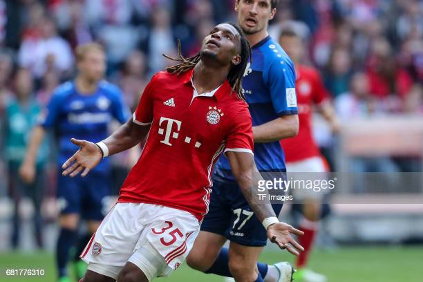 Reanato Sanches of Munich gestures during the Bundesliga match between Bayern Muenchen and SV Darmstadt 98 at Allianz Arena on May 6 2017 in Munich...