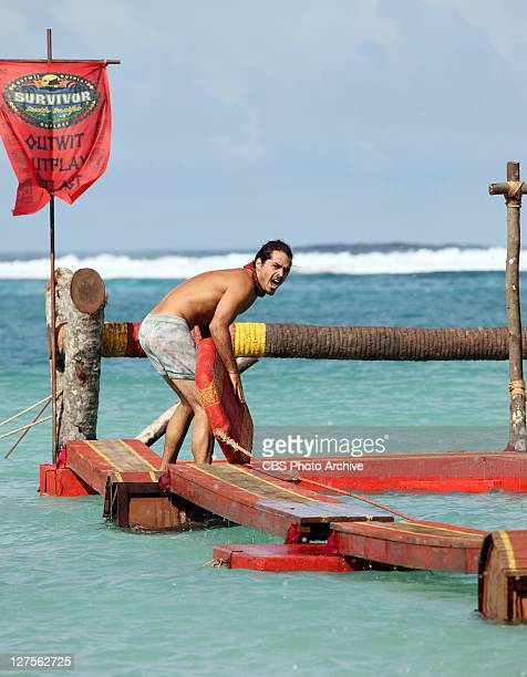 'Reap What You Sow' Ozzy Lusth during the immunity challenge 'Hitching a Ride' during the third episode of SURVIVOR SOUTH PACIFIC Wednesday September...