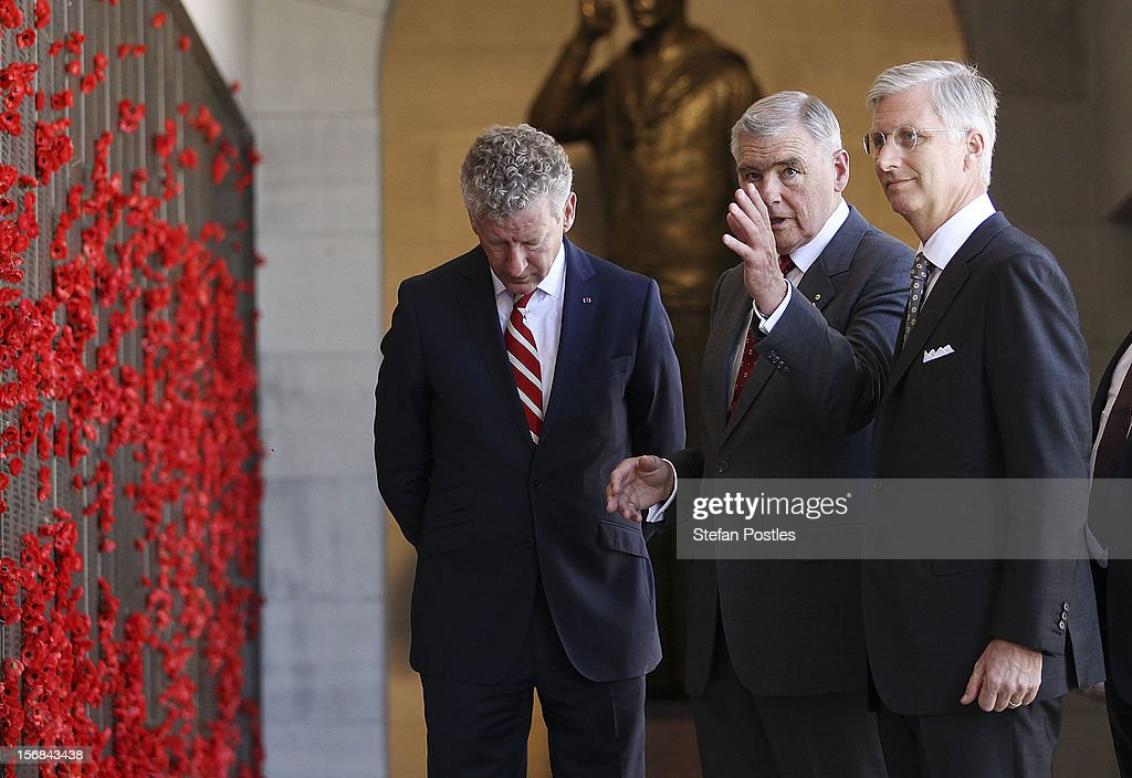 Rear Admiral Ken Doolan and Prince Philippe of Belgium visit The Australian War Memorial on November 23, 2012 in Canberra, Australia. Prince Philippe is on a ten-day tour of Australia that will take him to Perth, Sydney, Canberra and Melbourne.