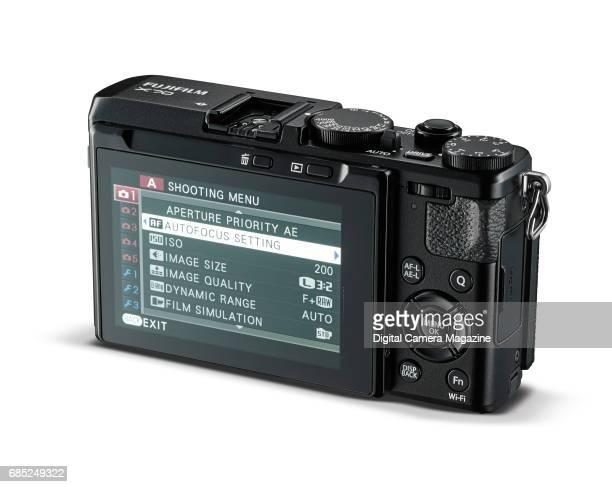 Rear detail of a Fuji X70 digital camera taken on April 14 2016