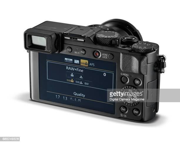 Rear detail of a Panasonic Lumix DMCLX100 digital camera taken on April 14 2016