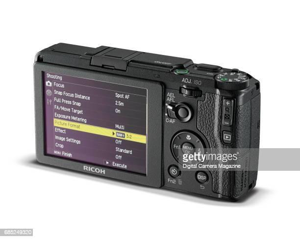 Rear detail of a Ricoh GR II digital camera taken on April 14 2016