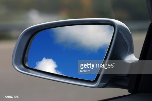 Rear mirror with sky