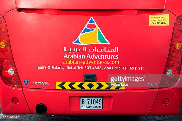 Rear of Arabian Adventures tour bus