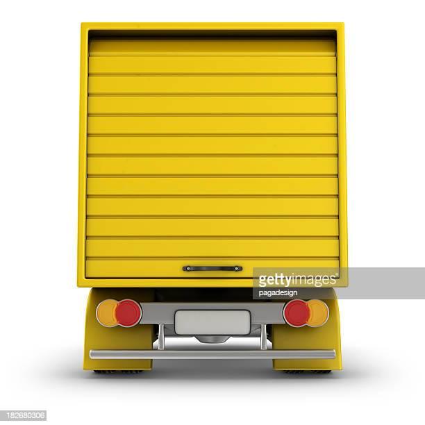 rear of delivery van