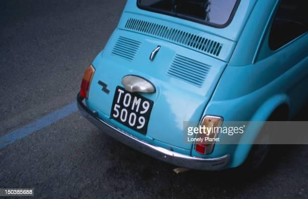 Rear of Fiat car.