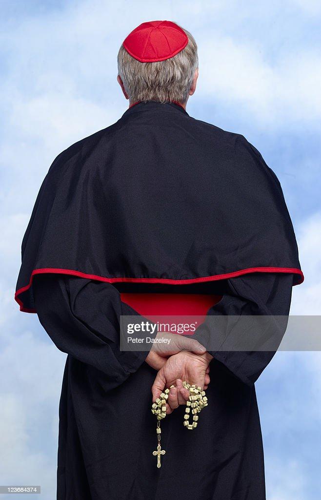 Rear of roman catholic cardinal
