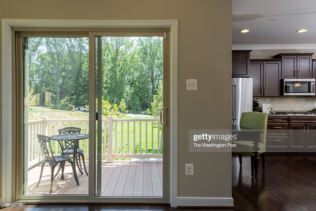 Rear Room on Main Level Leading to Patio in the Edinburgh Model at Admirals Ridge on August 11 2016 in Arnold Maryland