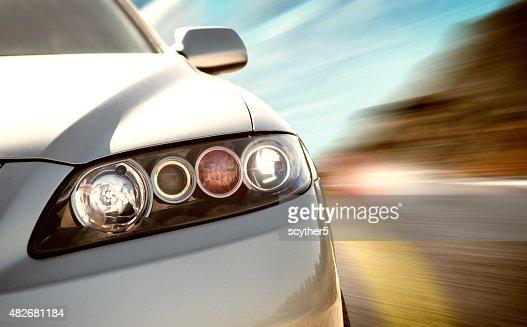 Hinteren Seite Ansicht von sport Auto mit Bewegungsunschärfe : Stock-Foto