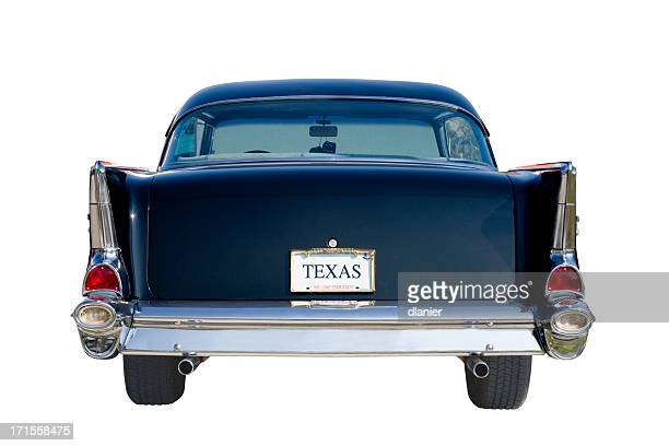 Vista posterior de 57 Chevy