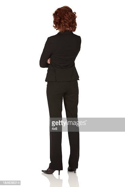 Rear view of a businesswoman