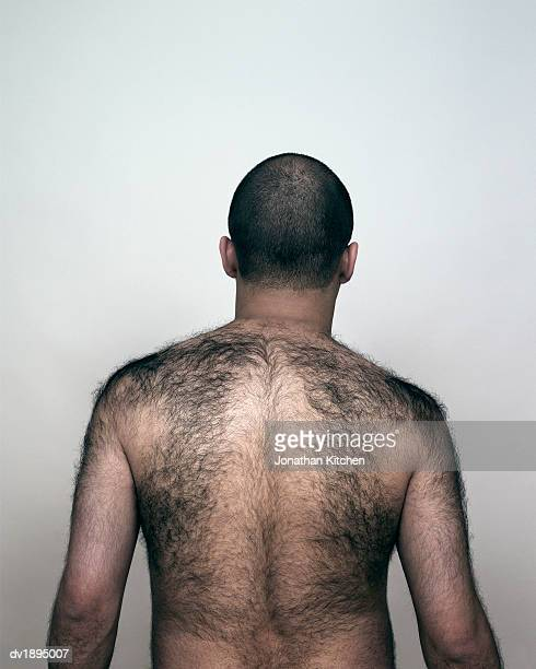 Rear View of a man With a Hairy Back