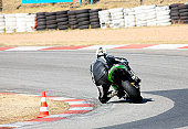 High speed Superbike on the circuit - Kyalami, South Africa - Movement on elements of the image. Trackday (all Logos and Trademarks removed)
