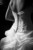 Rear view of bride