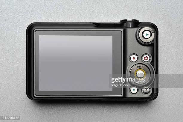 Rear view of compact digital camera