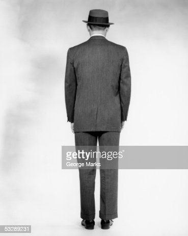 Rear View Of Man In Suit Stock Photo | Getty Images