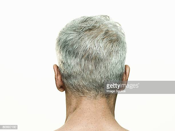 Rear view of mans head