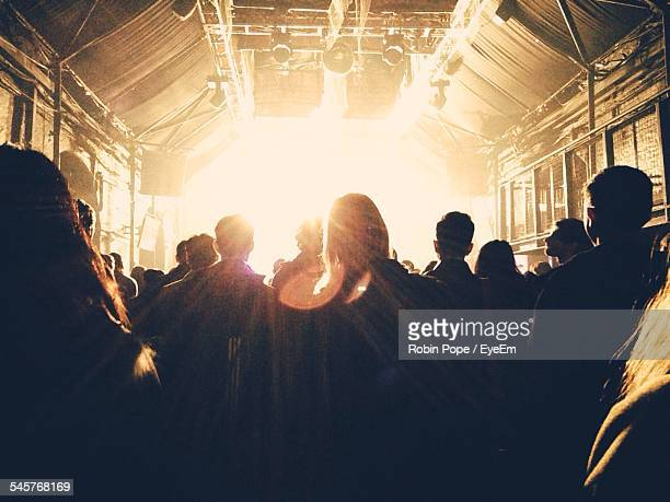 Rear View Of People In Music Concert