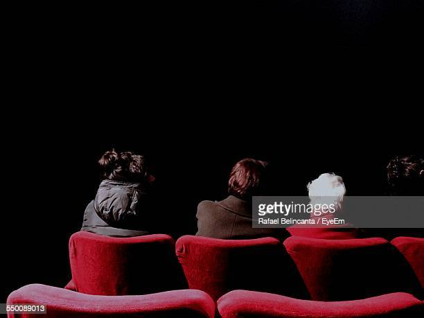 Rear View Of People Sitting In Theater