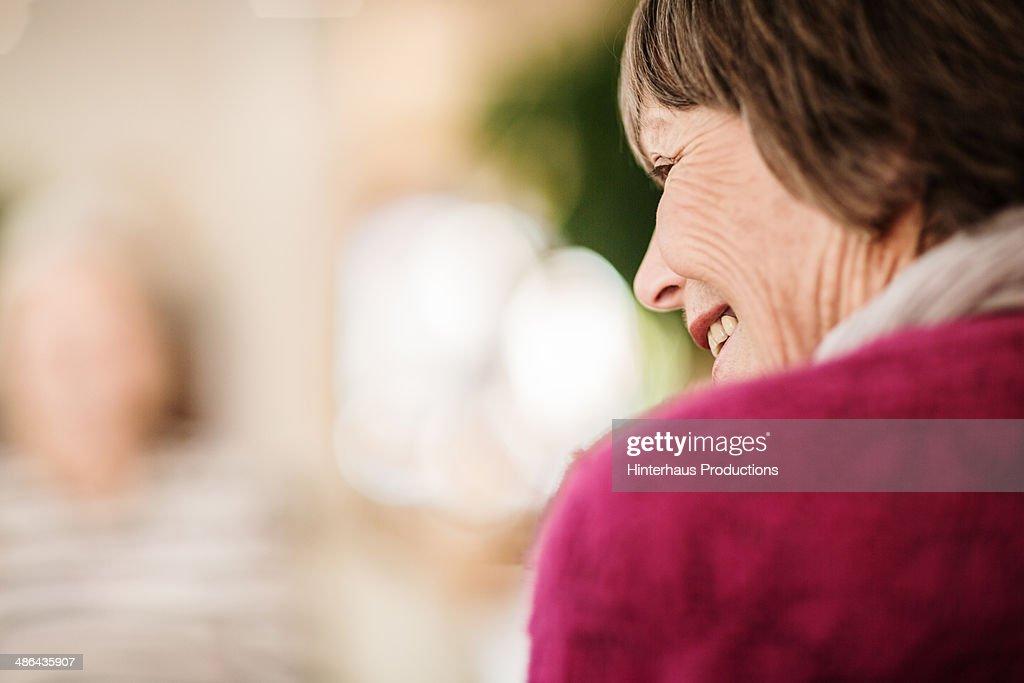 Rear View Of Senior Woman