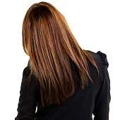Rear View of Young Businesswoman