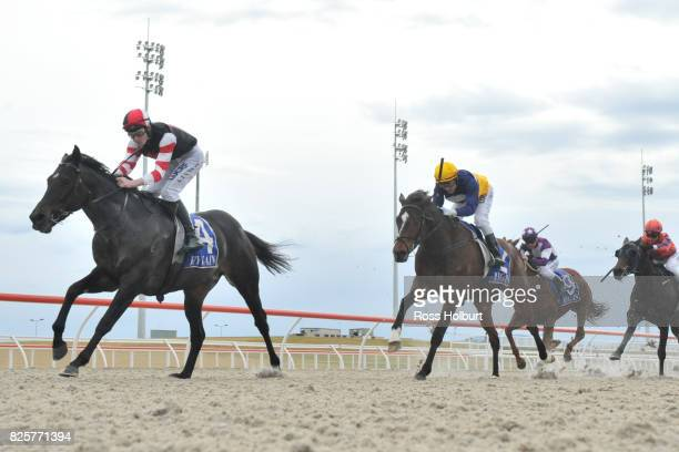 Reata ridden by Arron Lynch wins the XXXX Gold Maiden Plate at Racingcom Park Synthetic Racecourse on July 27 2017 in Pakenham Australia