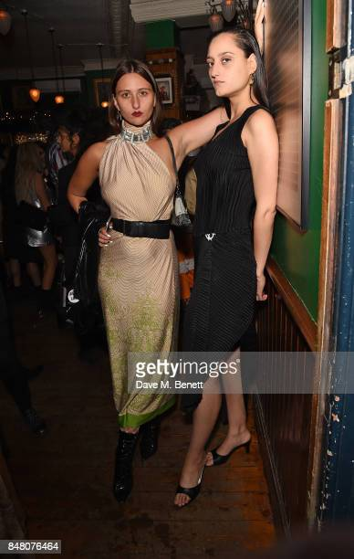 Reba Maybury and Jess Maybury celebrate Burberrys September collection and the Dazed Burberry cover shot by Angelo Penetta during London Fashion Week...