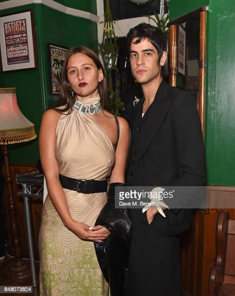 Reba Maybury and Thomas Cohen celebrate Burberrys September collection and the Dazed Burberry cover shot by Angelo Penetta during London Fashion Week...