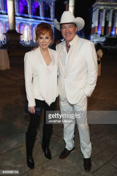 Reba McEntire and Kix Brooks attend the Closing Night Gala at Cinecittà as part of the 2017 Celebrity Fight Night in Italy Benefiting The Andrea...