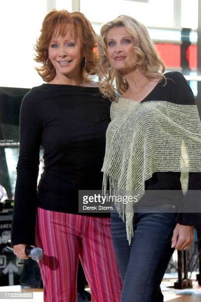 Reba McEntire and Linda Davis during The 'Today' Show 2004 Summer Concert Series Reba McEntire at Today Show in New York City New York United States