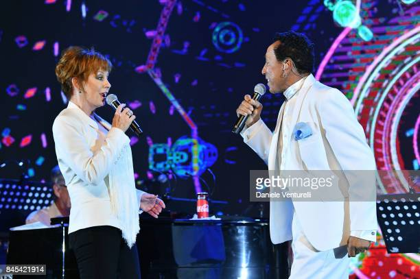 Reba McEntire and Smokey Robinson attend Celebrity Fight Night on September 10 2017 in Rome Italy