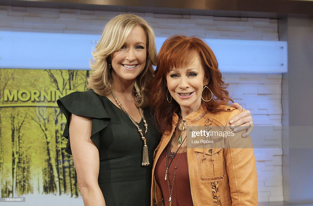 AMERICA - Reba McEntire is a guest on 'Good Morning America,' 2/4/13, airing on the ABC Television Network. (Photo by Lou Rocco/ABC via Getty Images) LARA SPENCER, REBA MCENTIRE