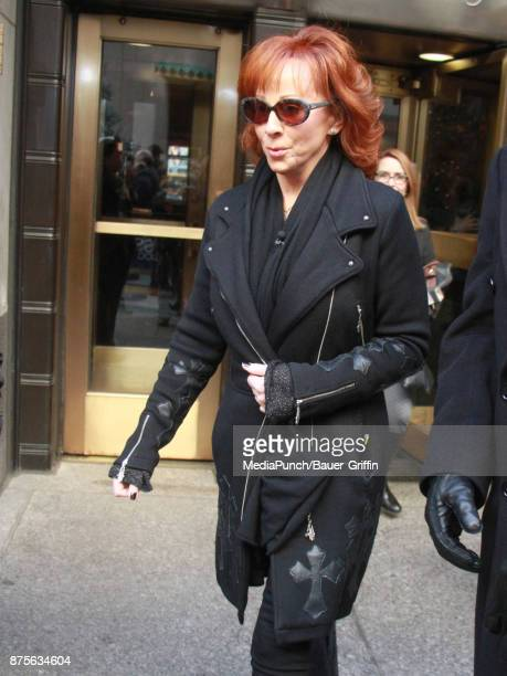Reba McEntire is seen at 'Access Hollywood Live' on November 17 2017 in New York City