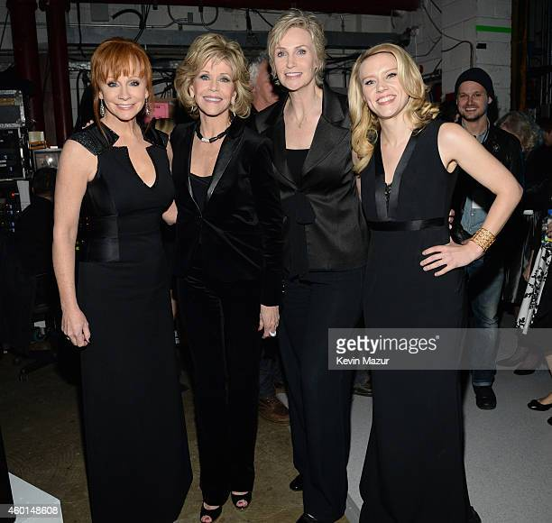 Reba McEntire Jane Fonda Jane Lynch and Kate McKinnon attend the 37th Annual Kennedy Center Honors at The John F Kennedy Center for Performing Arts...