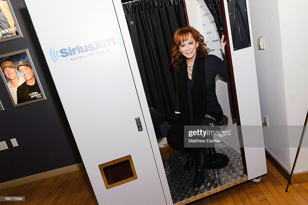 <a gi-track='captionPersonalityLinkClicked' href=/galleries/search?phrase=Reba+McEntire&family=editorial&specificpeople=202959 ng-click='$event.stopPropagation()'>Reba McEntire</a> visits SiriusXM Studios on February 5, 2013 in New York City.