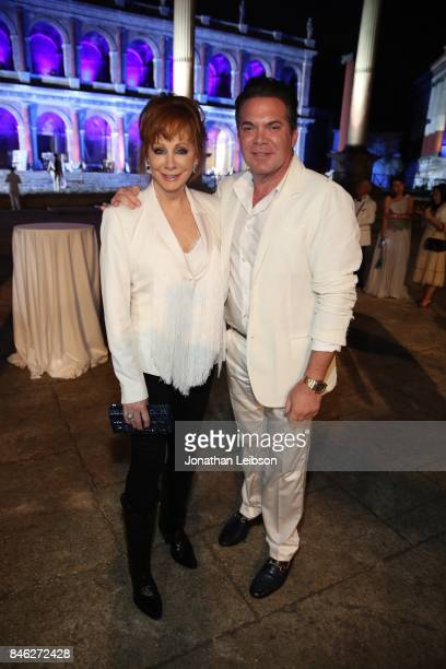 Reba McIntyre and Andy Gelb attend the Closing Night Gala at Cinecitta as part of the 2017 Celebrity Fight Night in Italy Benefiting The Andrea...